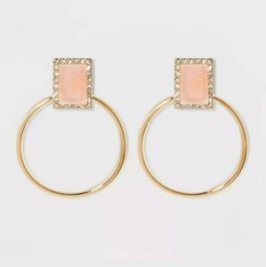 🆕️ Sugarfix By Baublebar Pink Crystal Druzy Hoops